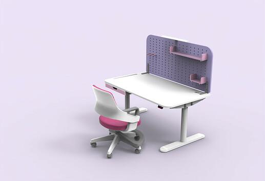 Combination 1: Pastel Pink + Lavender Purple