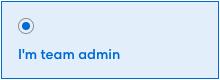 Team admin